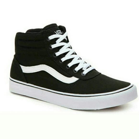VANS Milton Canvas High Top Sneakers sz 10 NEW